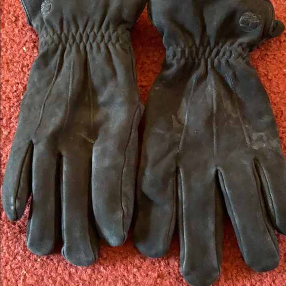 Black leather  timberland  gloves